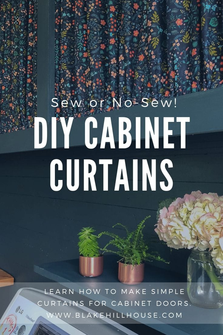 How To Make Curtains For Cabinet Doors Blake Hill House
